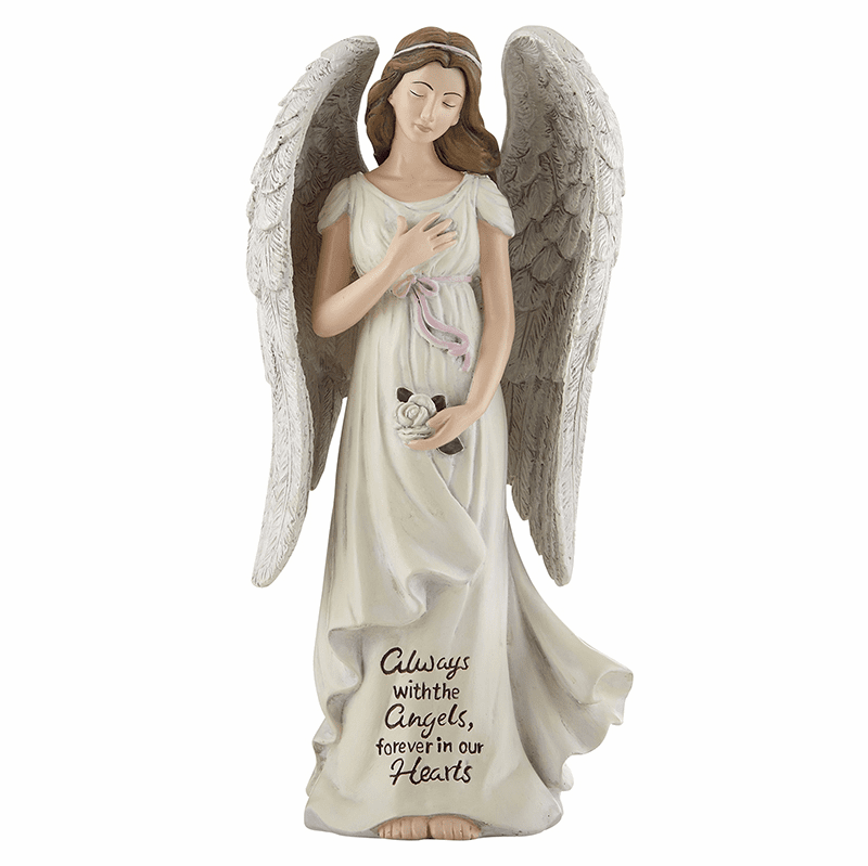 Avalon Gallery Michael Adams Design Angel with a Rose Memorial Figurine Statue