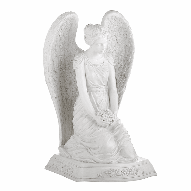 Avalon Gallery Michael Adams Design Kneeling Angel Memorial Garden Statue