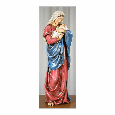 Avalon Gallery Mother's Kiss Mary and Child Jesus Statue