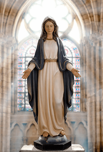 Avalon Gallery Our Lady of Grace 48in Wooden Religious Statue