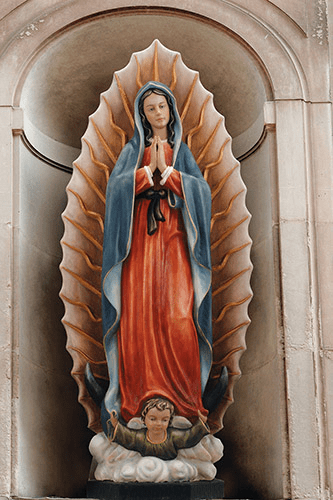 Avalon Gallery Our Lady of Our Lady of Guadalupe 48in Wooden Statue