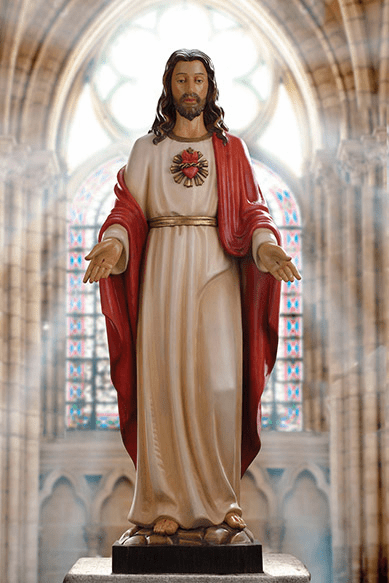 Avalon Gallery Sacred Heart of Jesus 48in Wooden Statue