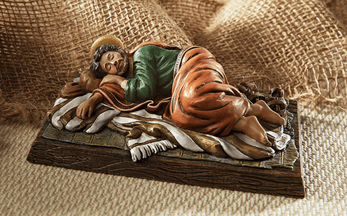 Avalon Gallery Sleeping Saint Joseph Resin Figure