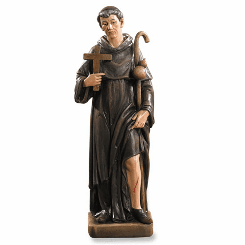 Avalon Gallery St Peregrine Patron Saint Statue with Wound on His Leg