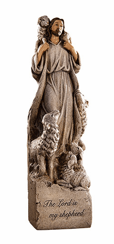 """Avalon Gallery The Lord Is My Shepherd 12"""" Religious Statue"""