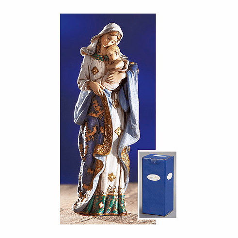 Ave Maria Adoring Madonna and Child Figurine Statue