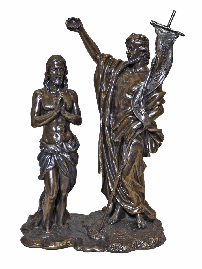 Baptism of Christ by John the Baptist Bronze Statue by Veronese Collection