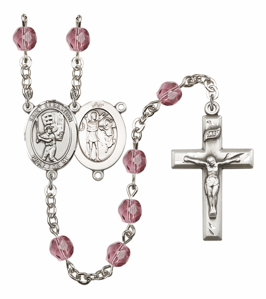 Baseball St Sebastian Prayer Rosaries