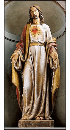 Basilica Statuary Sacred Heart of Jesus Church-Sized Statue by Avalon Gallery