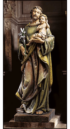 Basilica Statuary St Joseph with Child Church-Sized Statue by Avalon Gallery