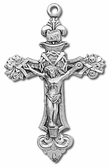 Beautiful Rose Sterling Silver Crucifix Rosary Part by HMH Religious