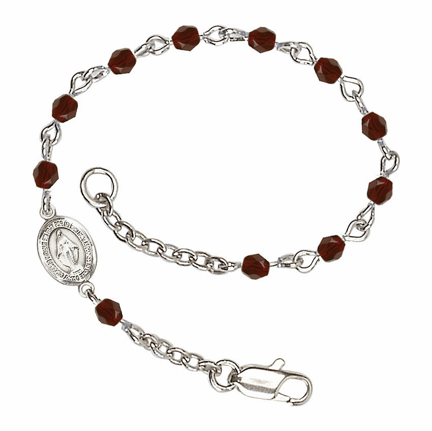 Birthstone Checo Beads Communion Charm Bracelets