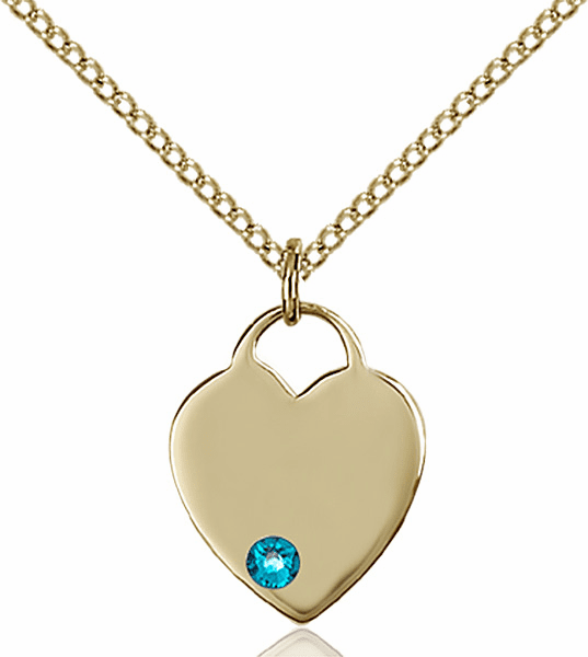 Birthstone Crystal December Zircon Heart 14kt Gold-filled Charm Necklace by Bliss