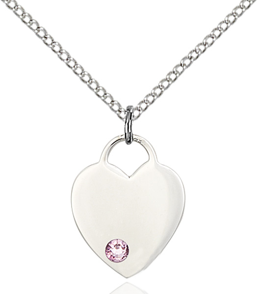 Gold Filled Lite Curb Chain 5//8 x 1//2 14kt Gold Filled Heart Pendant with 3mm Light Amethyst bead
