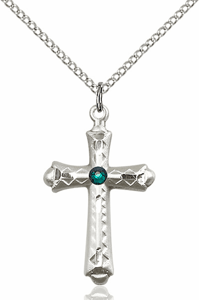 Birthstone Detailed Flared Crosses
