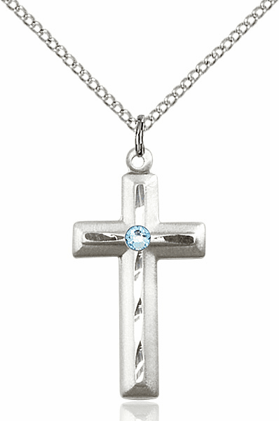 Birthstone Double Etched Crosses