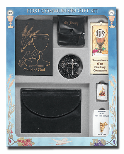 Blessed Child of God Boys 7pc Deluxe First Communion Gift Set by Hirten