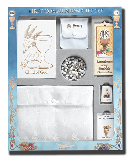 Blessed Child of God Girls 7pc Deluxe First Communion Gift Set by Hirten