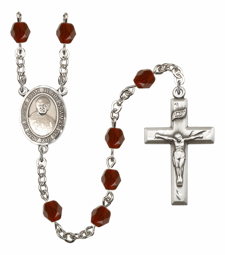 Blessed John Henry Newman Birthstone Crystal Rosary by Bliss - More Colors