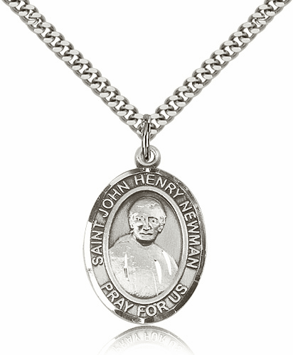 Blessed John Henry Newman Sterling Silver Medal Necklace by Bliss