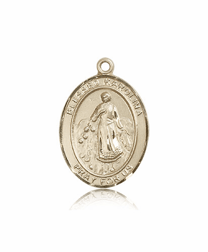 Blessed Karolina Kozkowna 14kt Gold Pendant Medal by Bliss
