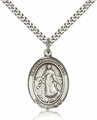 Blessed Karolina Kozkowna Pewter Necklace by Bliss