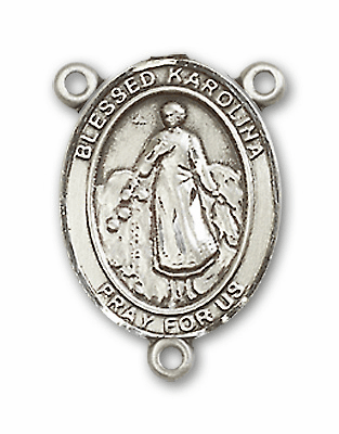 Blessed Karolina Kozkowna Sterling Silver Saint Rosary Center by Bliss