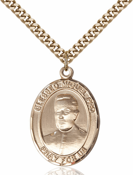 Blessed Miguel Agustin Pro 14kt Gold-Filled Medal Necklace by Bliss