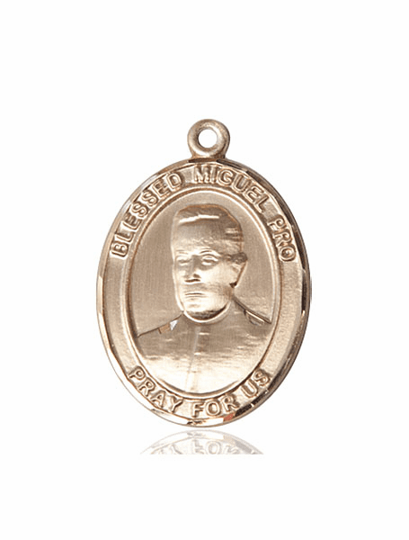 Blessed Miguel Agustin Pro 14kt Gold Medal Pendant by Bliss