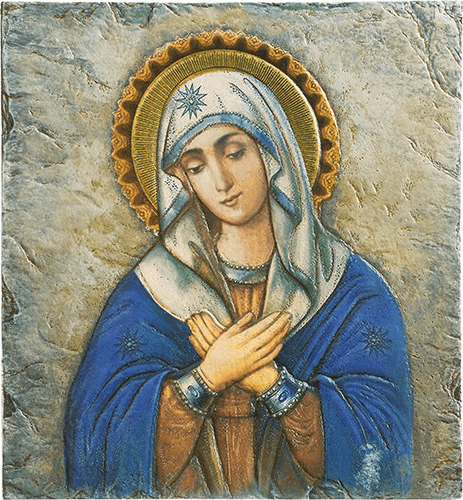 Blessed Mother Mary Marco Sevelli 8 x 10 Plaque by Sacred Traditions