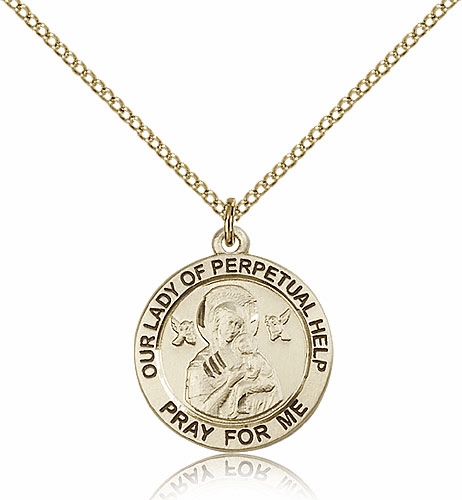 Bliss 12kt Gold Filled Our Lady of Perpetual Help Pendant