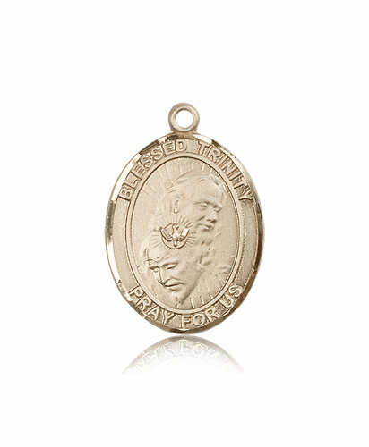 Bliss 14kt Gold Blessed Trinity Medal Pendant by Bliss
