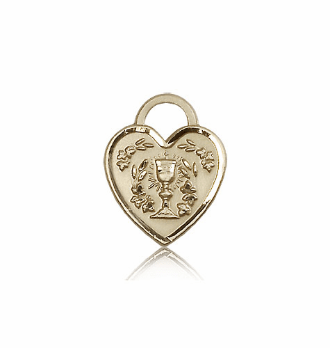 Bliss 14kt Gold Communion Heart Medal Pendant
