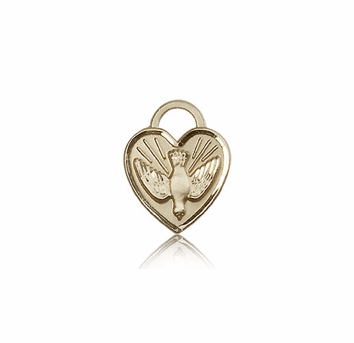 Bliss 14kt Gold Confirmation Heart Medal Pendant