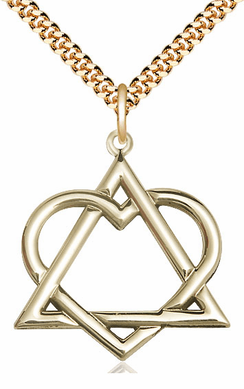 Bliss 14kt Gold-filled Adoption Heart Pendant Necklace