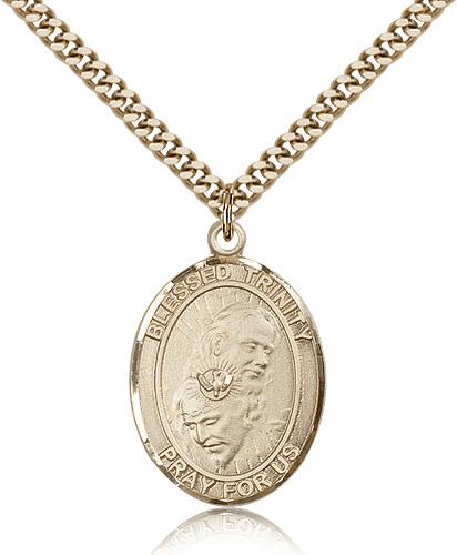 Bliss 14kt Gold Filled Blessed Trinity Religious Medal
