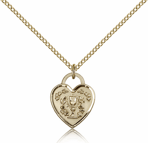Bliss 14kt Gold-filled Communion Heart Pendant Necklace