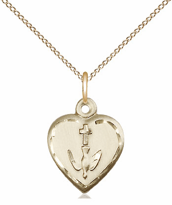 Bliss 14kt Gold-filled Confirmation Heart Pendant Necklace