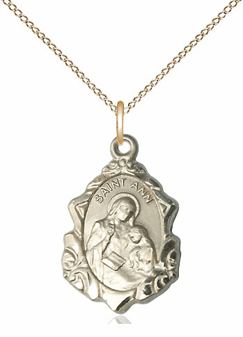 Bliss 14kt Gold-filled Fancy St Ann and Mary Pendant Necklace