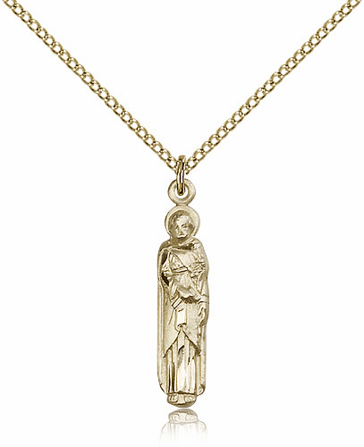 Bliss 14kt Gold-filled Figure St Joseph Medal Pendant Necklace