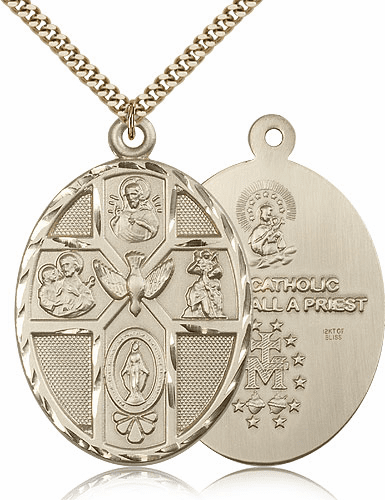 Bliss 14kt Gold-Filled Five-Way Holy Spirit Pendant Necklace