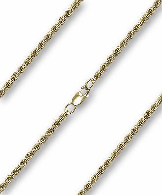 Bliss 14kt Gold Filled French Rope Neck Chain w/Lobster Clasp