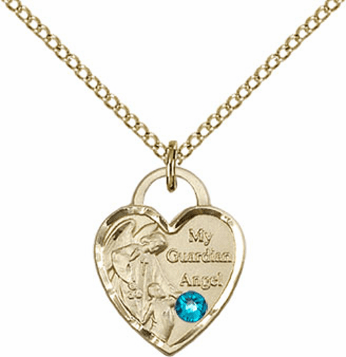 Bliss 14kt Gold-filled Heart December Zircon Birthstone Necklace