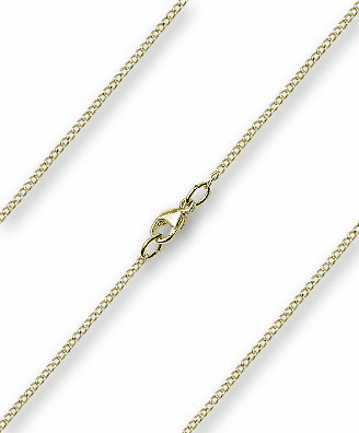 Bliss 14kt Gold-Filled Lite Curb Necklace Chain w/Lobster Clasp
