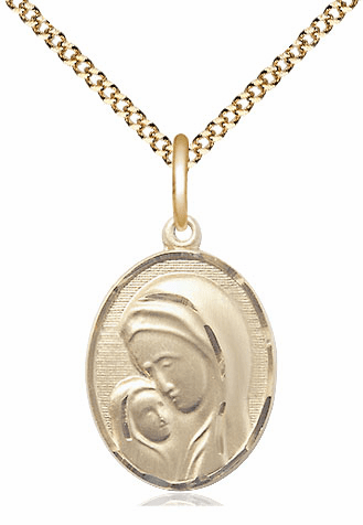 Bliss 14kt Gold-filled Madonna and Child Pendant Necklace
