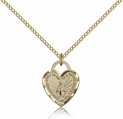 Bliss 14kt Gold-filled Miraculous Heart Pendant Necklace