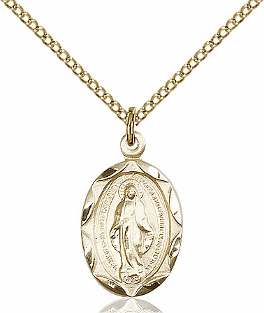Bliss 14kt Gold-filled Miraculous Medal Pendant Necklace