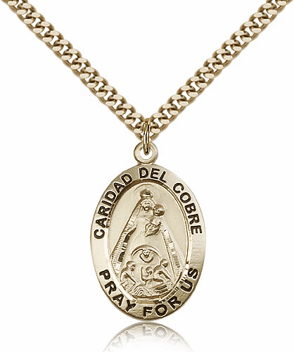 Bliss 14kt Gold-Filled Our Lady of Caridad Del Cobre Pendant Necklace