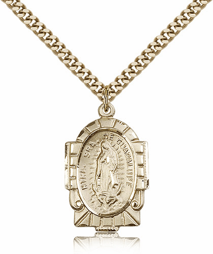 Bliss 14kt Gold-Filled Our Lady of Guadalupe Pendant Necklace
