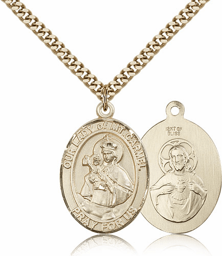 Bliss 14kt Gold Filled Our Lady of Mount Carmel Medal Necklace